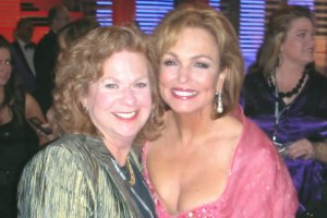 Me and Phyllis George at the Miss America Pageant